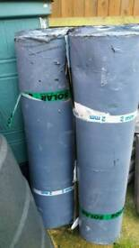 Shed roof felt, self adhesive. 3 rolls x 10 metre