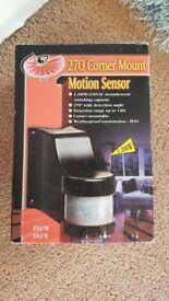 Corner mount motion sensor