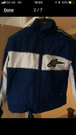 Alpine stars motorbike jacket, as me condition
