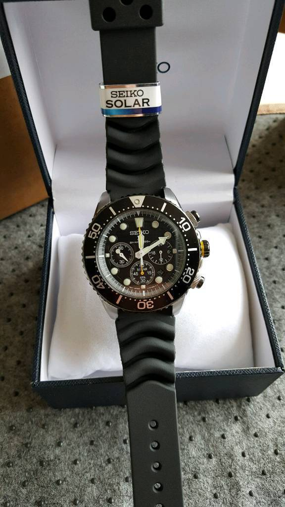 new arrival 4f7d3 de7c9 Seiko SSC021P1 Solar Chronograph Rubber Strap 200m Diver Mens Watch   in  Sheffield, South Yorkshire   Gumtree