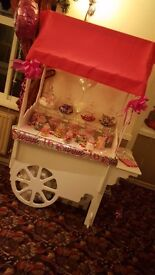 Candy cart for hire £60 this comes with sweets and bags i will dress it to match the theme