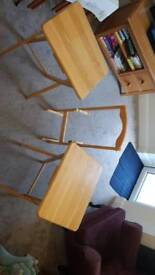 Three Foldaway Tables