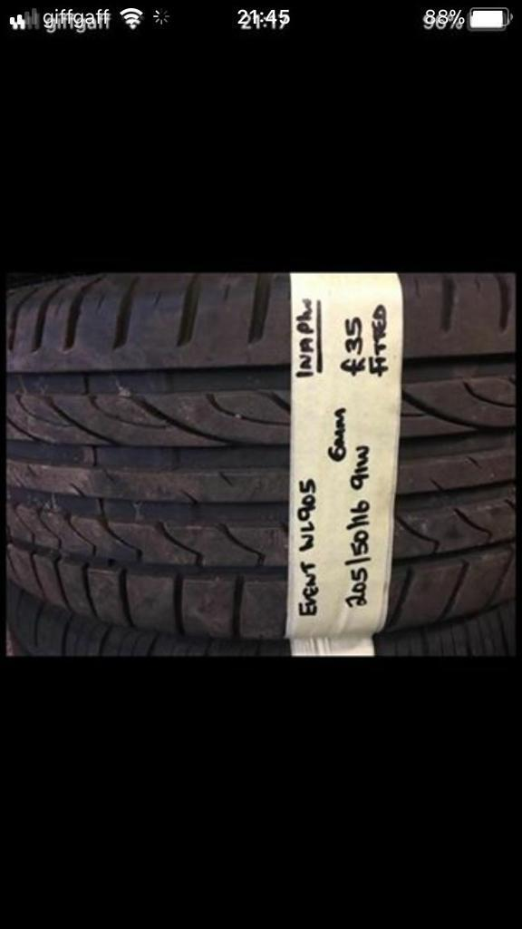205/50/16 91W Event Tyre.