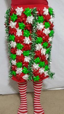 Ugly Christmas Sweater - Bow Dress of Christmas Bows Sz 14 Christmas Bow Skirt 2 ()