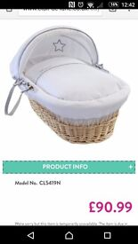 Clair de lune delux wicker basket and stand