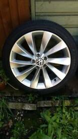 """18"""" intergalos wheels whit tiers nearly new"""