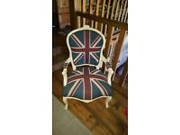 Pair of luxury Union Jack chairs