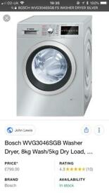 BOSCH WVG3046SGB FS WASHER DRYER SILVER