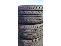 4 x 225/40/18 tyres