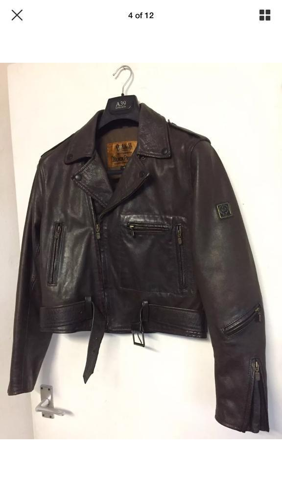 Belstaff Brown Leather Biker jacket Unisex size 42 (Ladies)/S (Menin Wollaton, NottinghamshireGumtree - Bought from eBay but was too small, the buyer didnt accept returns so Ive been stuck with it. This is why its for sale, just want to get what I paid for it