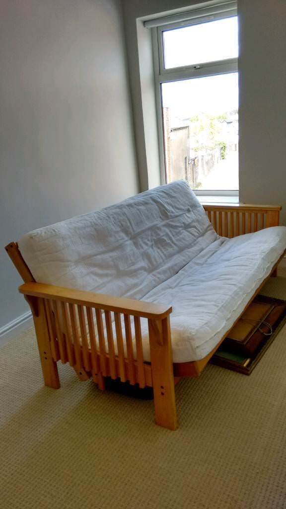 Wooden frame futon sofa bed   in Penarth, Vale of ...