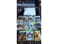 xbox 360 with games (no controller) 3 sets to choose from