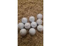 10 used Titleist Pro V golf balls