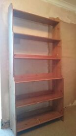 Shelving Unit. This is an antique pine finished Ikea shelving unit.