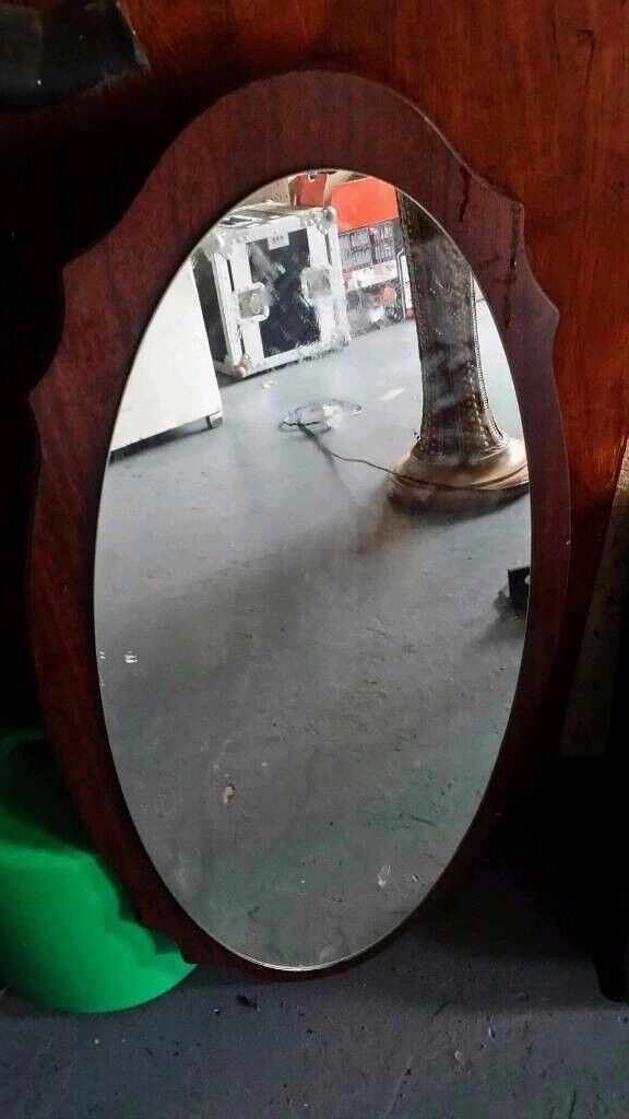 danish old retro wall mirror in excellent condition £10