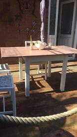 Chabby chic table and chairs