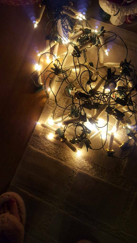 3 sets of debenhams candle clip on lights