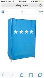 Blue canvas wardrobe