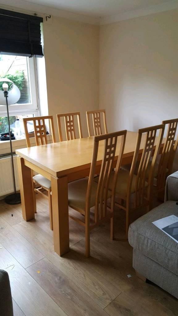 Ex sterling dining table and 6 chairs. Ex sterling dining table and 6 chairs   in Aberdeen   Gumtree
