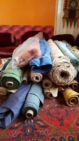 Job lot of curtain/ throw material rolls(REDUCED)