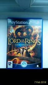 The Lord Of The Rings Third Age PS2
