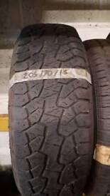 205 70 15 at hankook tyre part worn