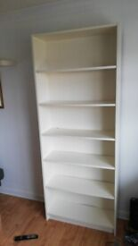 Two Ikea Billy Bookcases (white, grey/silver)!