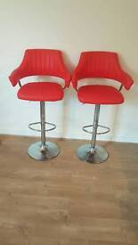 2x red dinning high chair