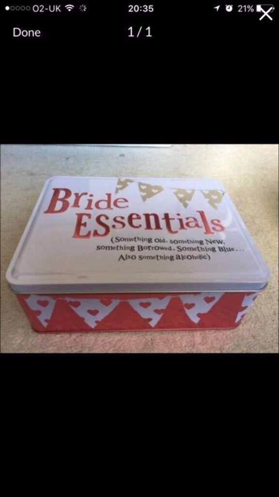 bride essentials tin