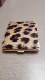 Leopard skin cigarette case