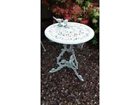 Georgian Style Cast Aluminium / Iron Round Metal Garden Patio Table