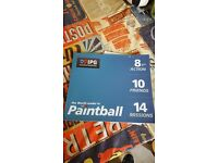 Paint ball voucher for sale