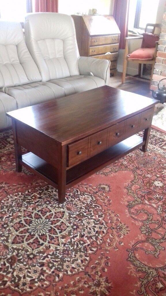 Mahogany coffee table by John Lewis