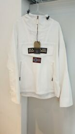 Napapijri Rainforest Summer Pocket Jacket - White, Large
