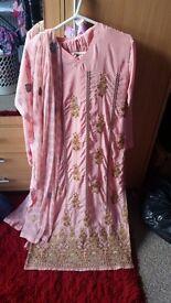 size S-M 10-14 anarkali bollywood salwar kameez pakistani lengha sari churidaar wedding diamante