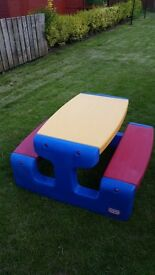 Little Tikes Picnic Bench - In very good condition