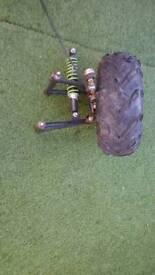 Quad front suspension complete