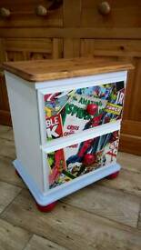 Upcycled Spiderman Bedside Cabinet