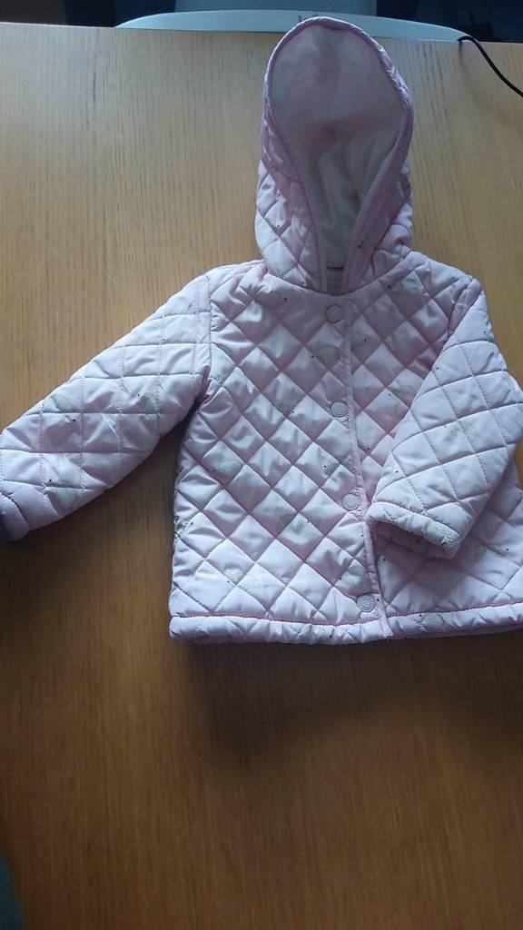 REDUCED Debenhams blue zoo soft pink coat 12-18months