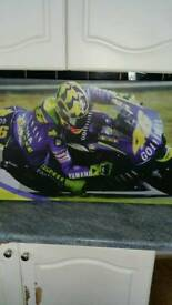 Valentino rossi motorcycle canvas