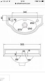 Burlington Edwardian Curved Cloakroom Basin