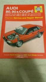 Haynes manual audio 80 & 90 coupe