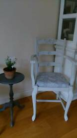 French Carver Chair. Painted. Shabby chic