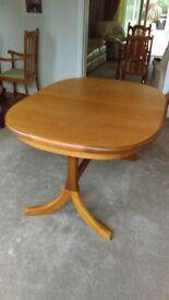 Teak Extending Double Pedestal Dining Table