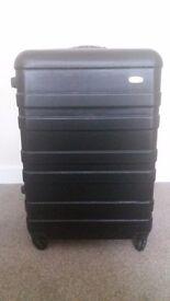 Suitcase four wheels black hardcase