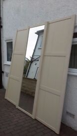 BEECH EFFECT FULL LENGTH SLIDING DOORS