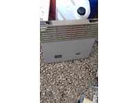 carver gas fire with blow heater