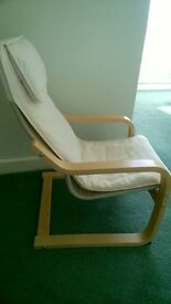 childs ikea chair in beige and beech