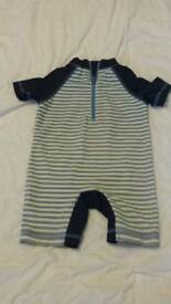 Baby boy swimsuit 9-12 months and Happy Nappy