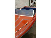 Boat Fletcher arrowflash speedboat + 85hp outboard engine + trailer